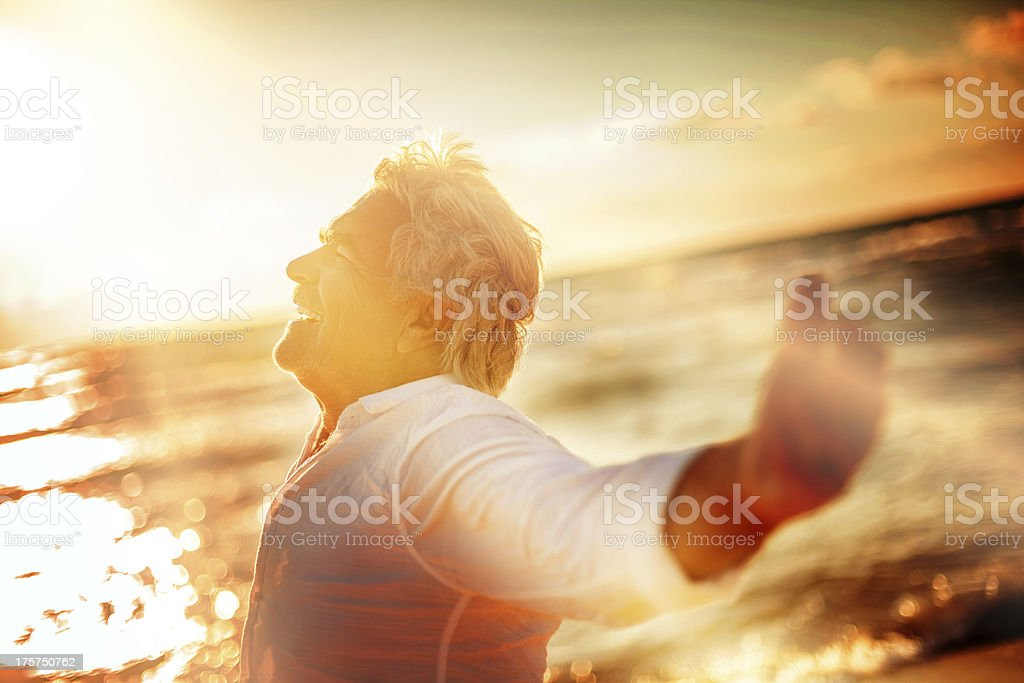 Feeling blessed royalty-free stock photo