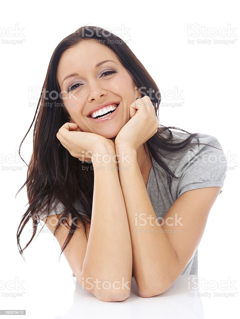 Feeling calm and confident royalty-free stock photo