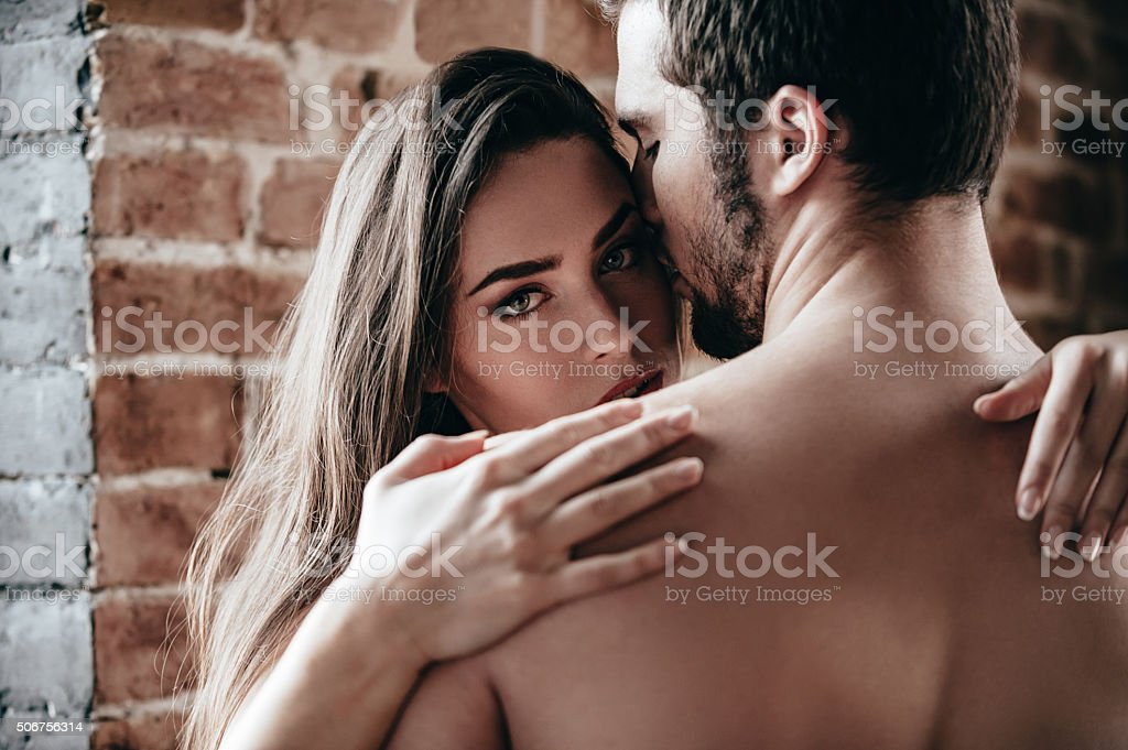 Feeling calm and protected. stock photo