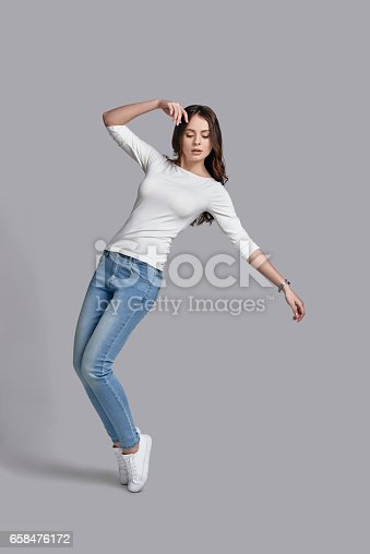 istock Feeling comfortable in her style. 658476172