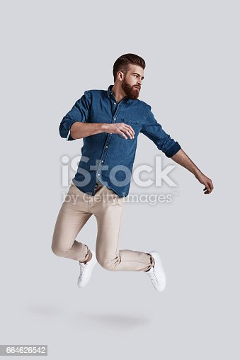 istock Feeling comfortable in his style. 664626542