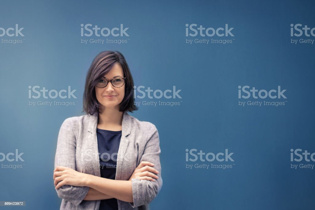 Feeling confident in herself. stock photo