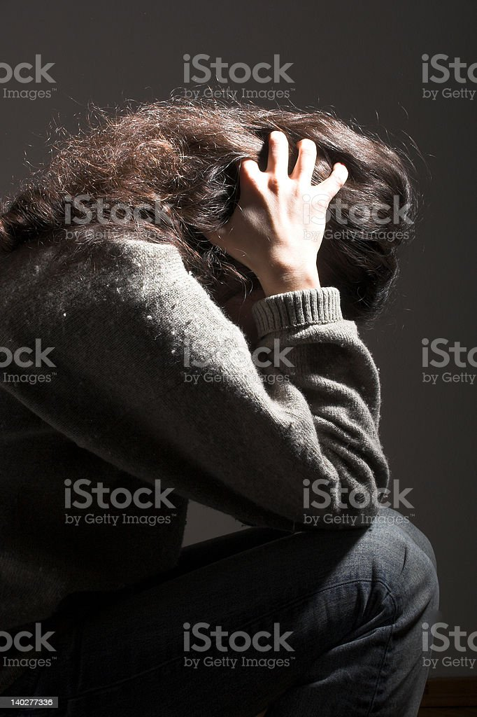 feeling down royalty-free stock photo