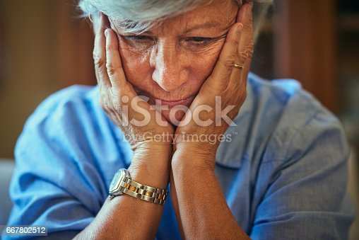 istock Feeling dread and depression dawn on her 667802512