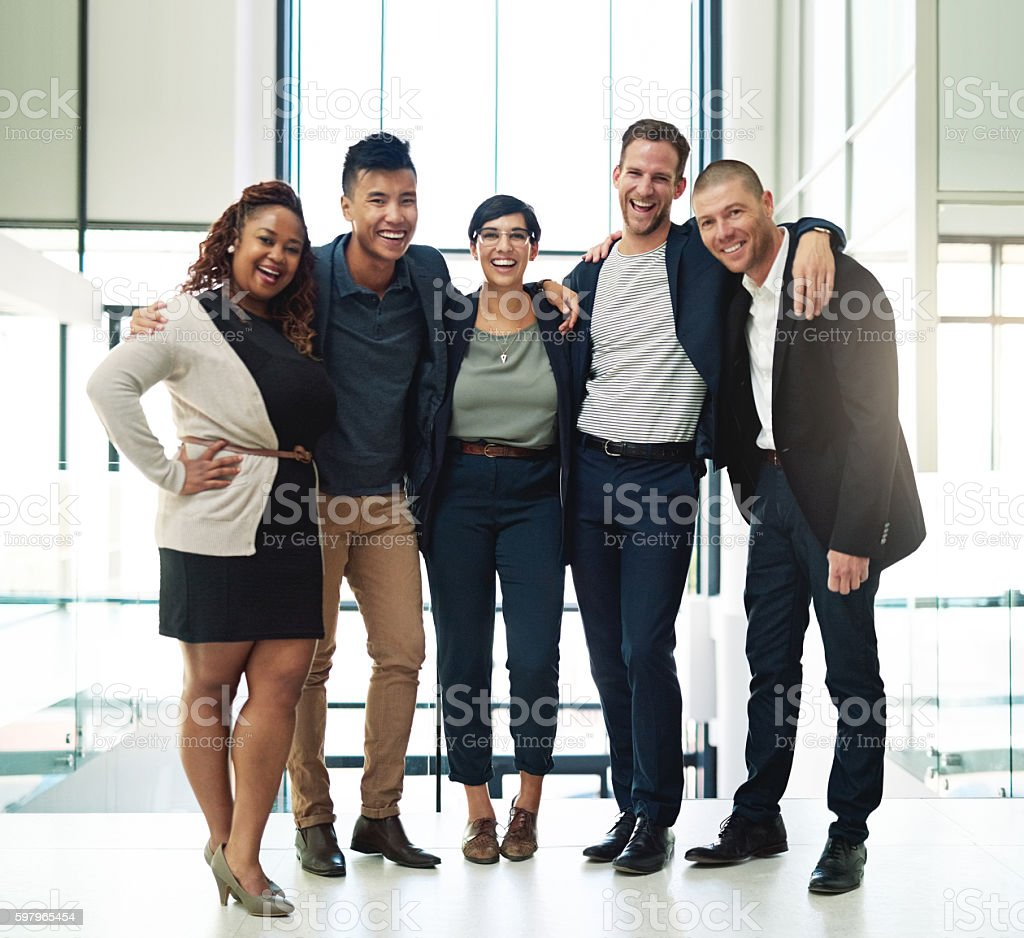 Feeling empowered to perform in a collaborative manner stock photo