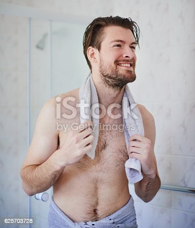 istock Feeling energised after a great shower 625703728