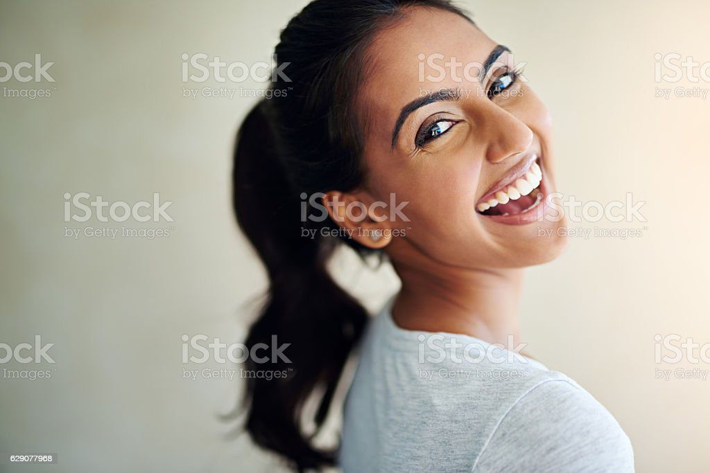 Feeling fantastic and it shows stock photo