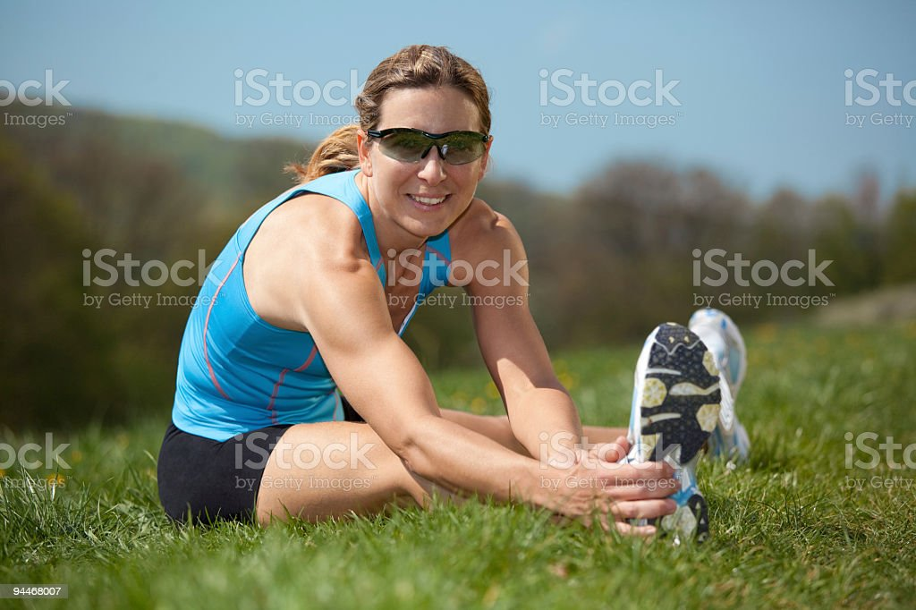 feeling fit and healthy royalty-free stock photo