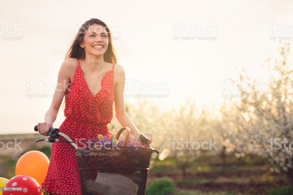 Feeling Free And Happy This Magical Spring Day stock photo