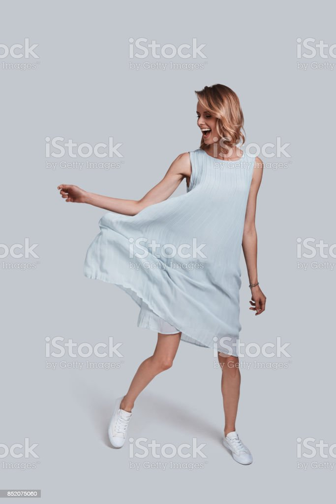 Feeling free to do anything. stock photo