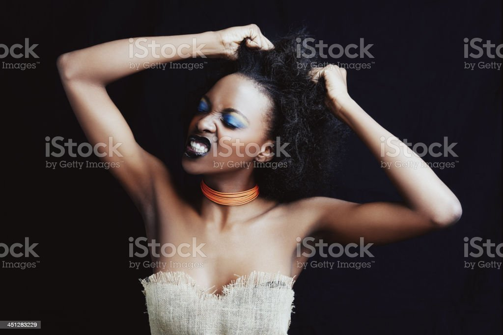 Feeling frustrated stock photo