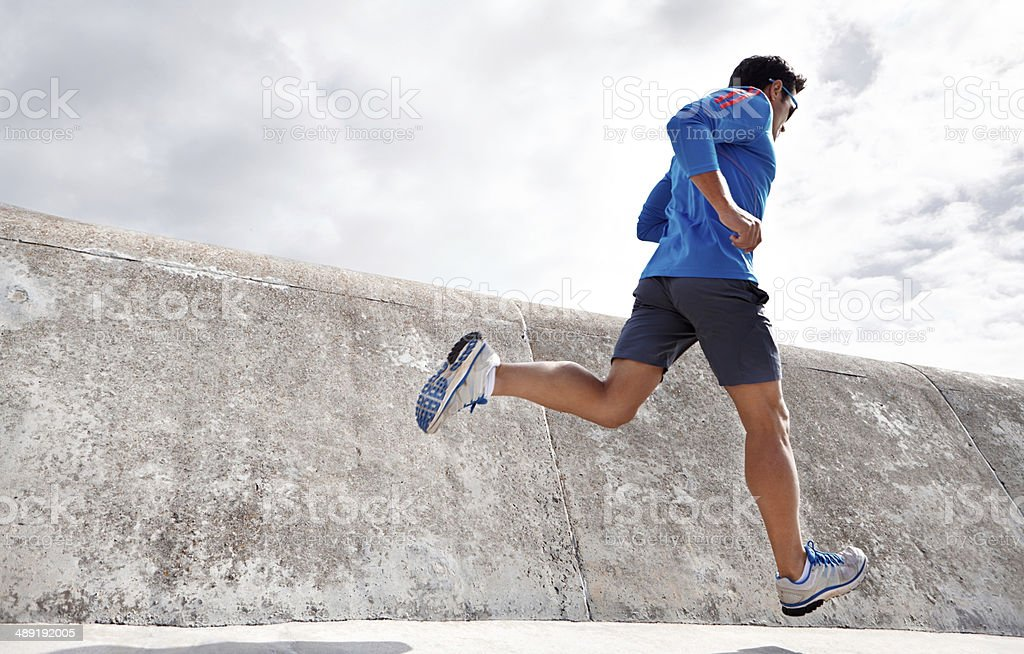 Feeling good and keeping fit! stock photo