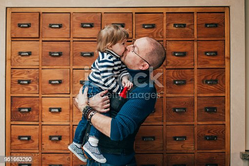 649431568 istock photo Feeling Happy In Dad's Arms 951663260