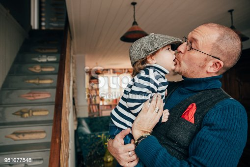 649431568 istock photo Feeling Happy In Dad's Arms 951677548