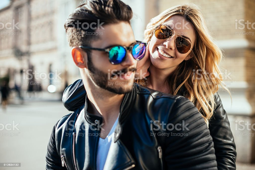 Feeling happy together stock photo