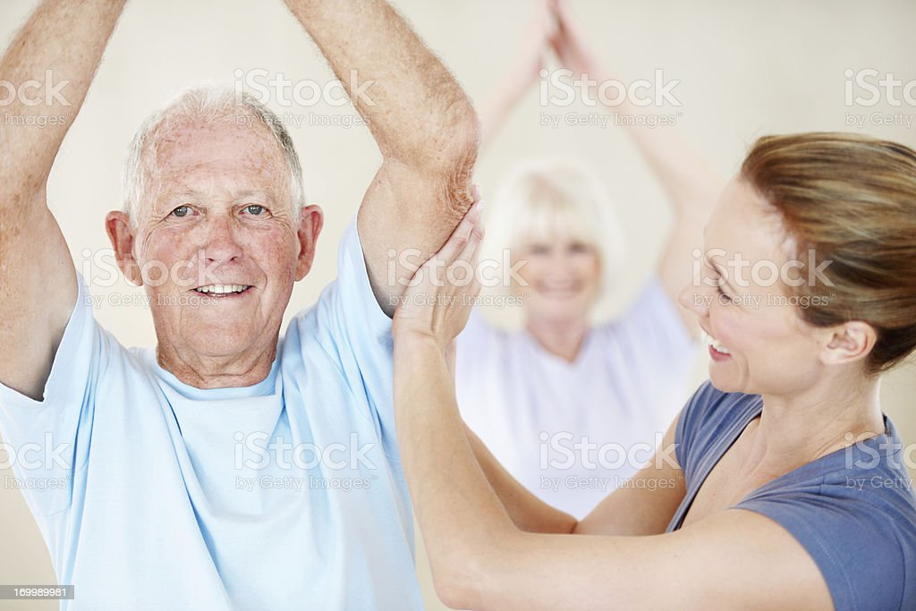 Feeling healthy in body and mind royalty-free stock photo