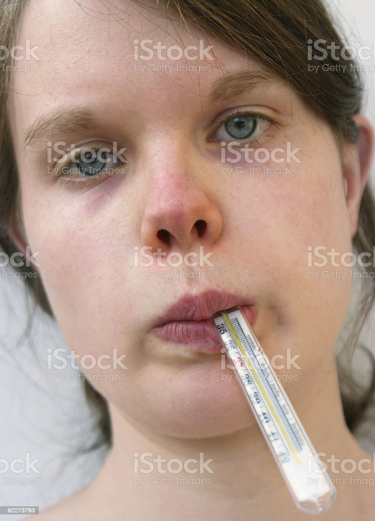 Feeling ill stock photo