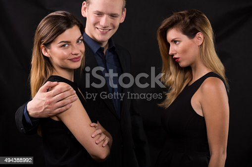 istock Feeling jealous of other woman 494388992