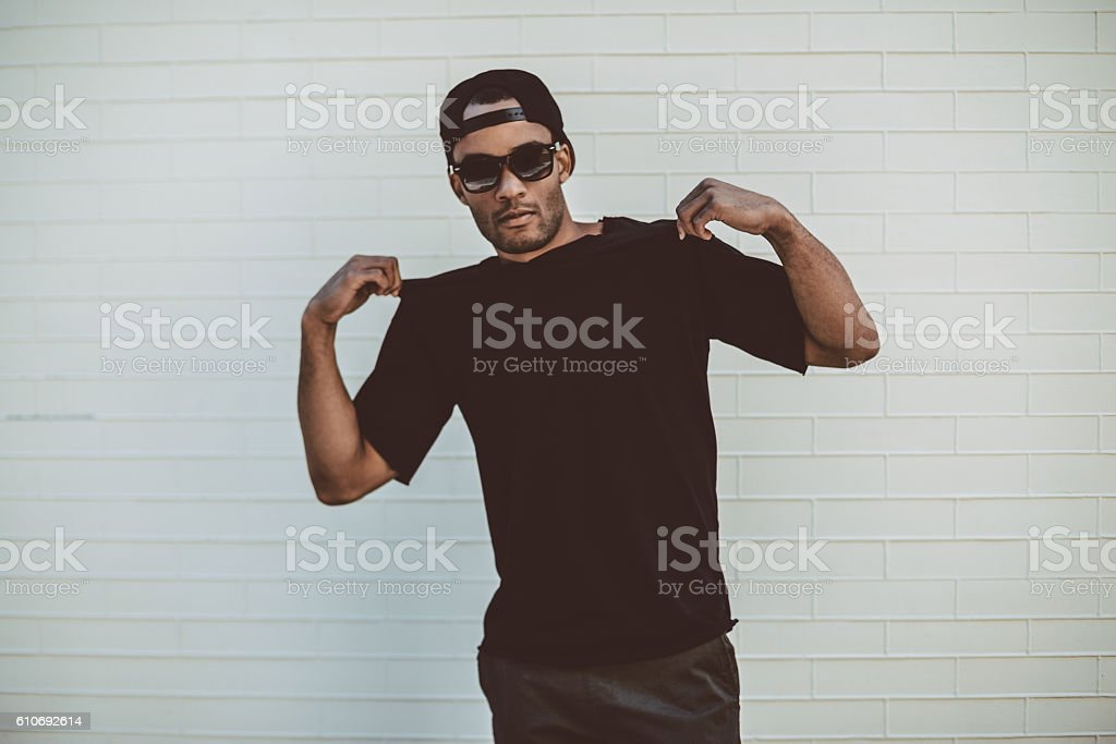 Feeling just casual. stock photo