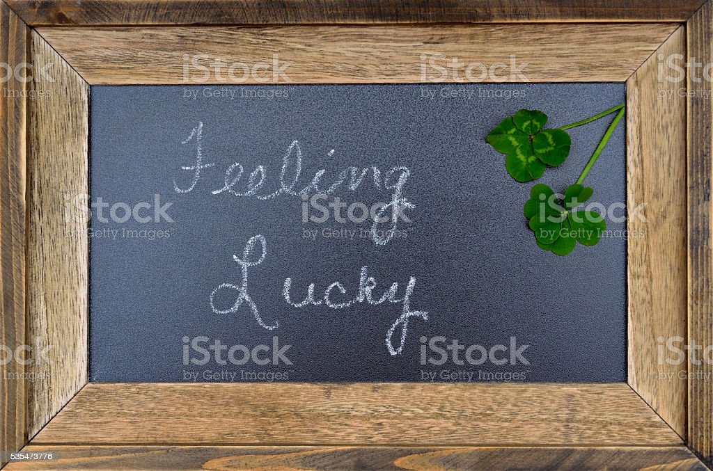 Feeling lucky concept, 5 five leaf and 4 four leaf clover to...