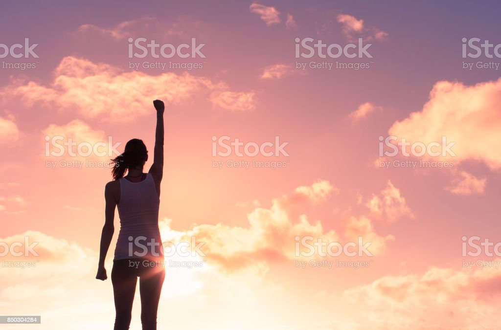 Feeling motivated stock photo