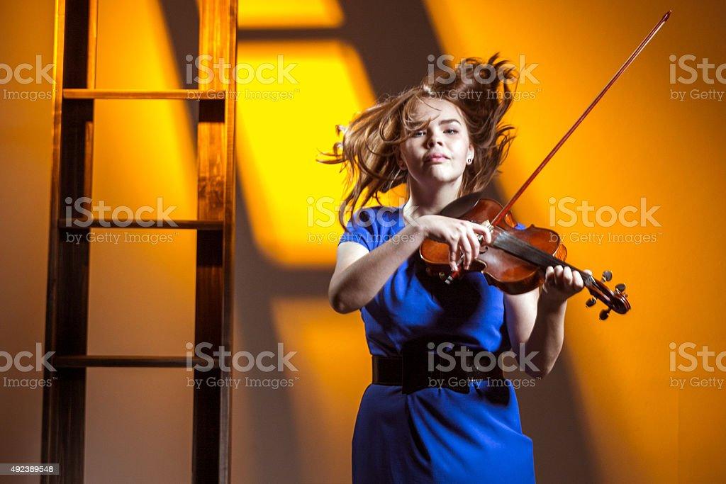 Feeling Music stock photo