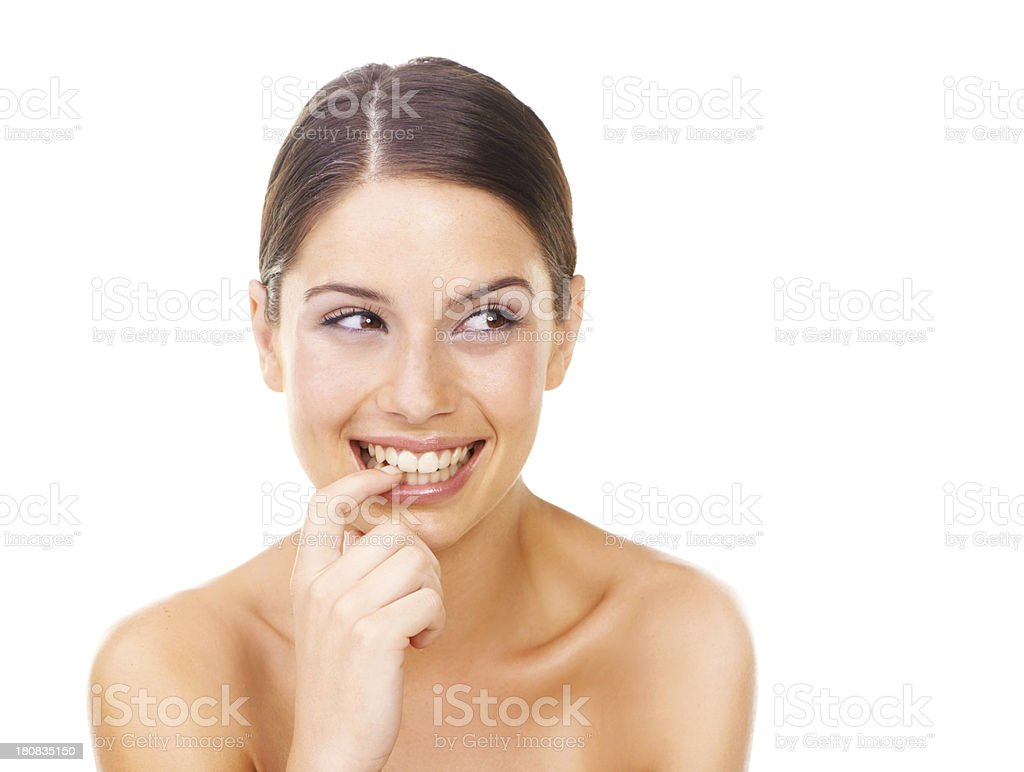 Feeling naughty... stock photo