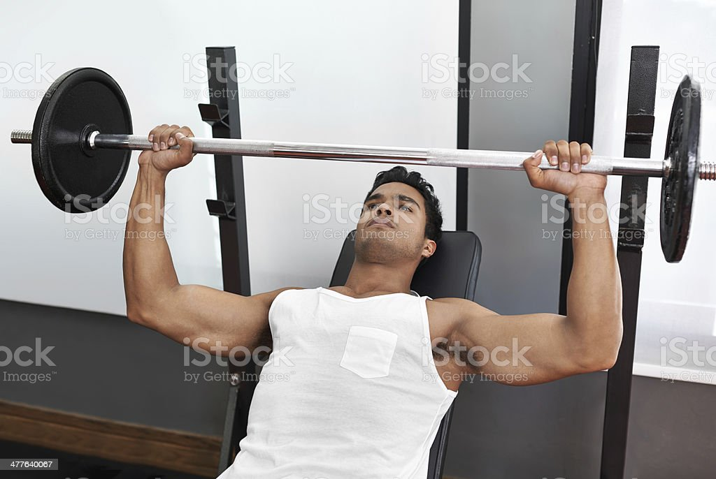 Feeling pumped! stock photo