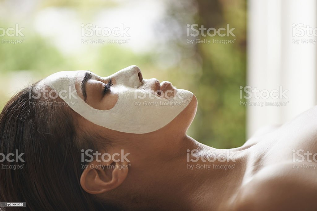 Feeling relaxed and calm stock photo