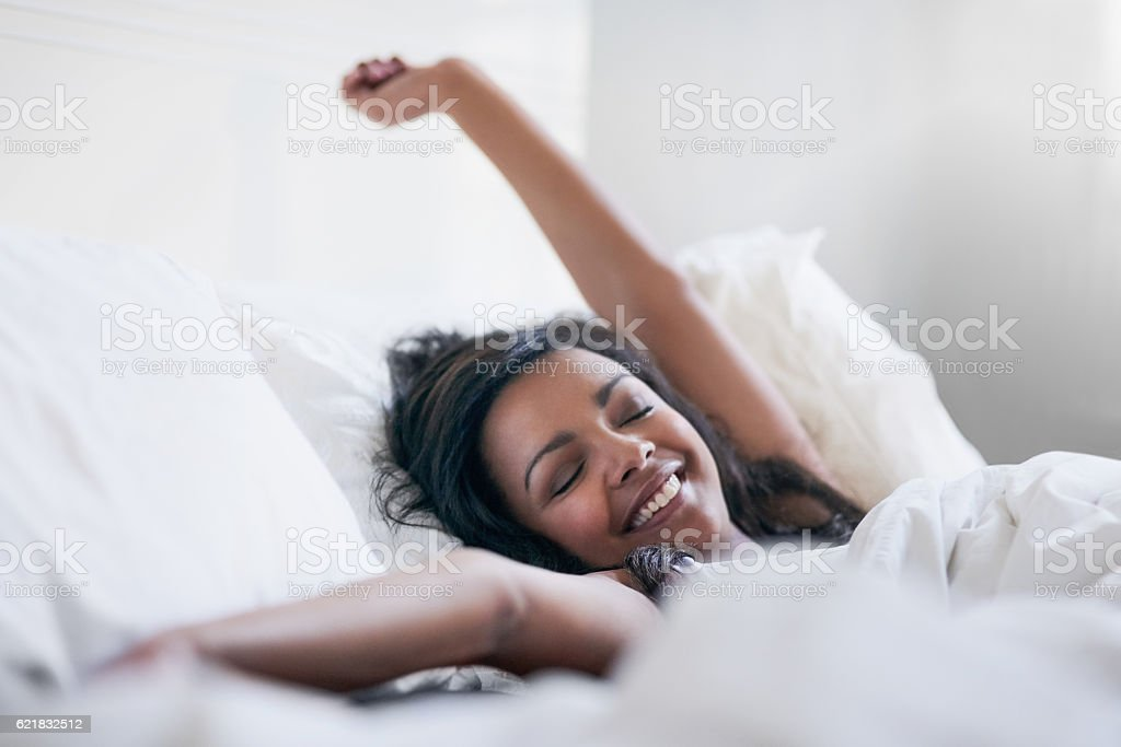 Feeling rested and refreshed stock photo
