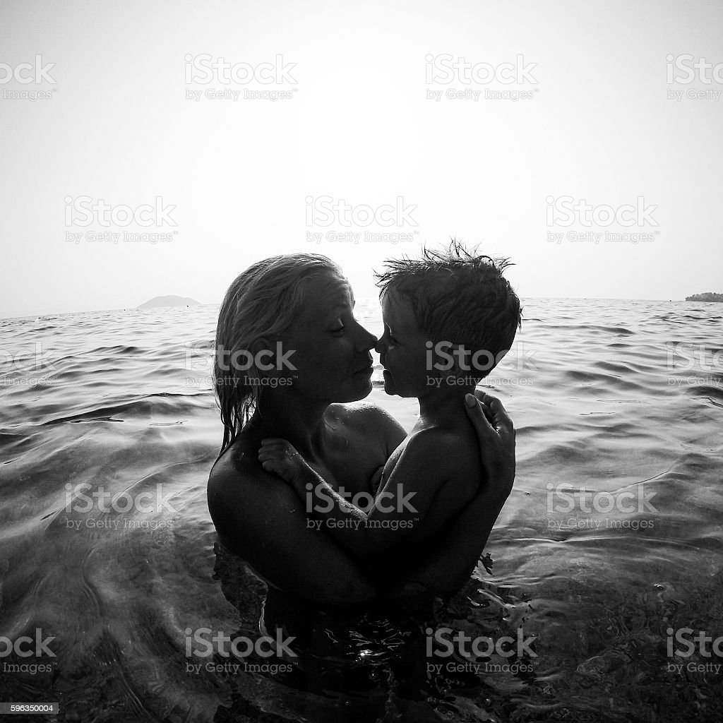 Feeling safe with mom royalty-free stock photo