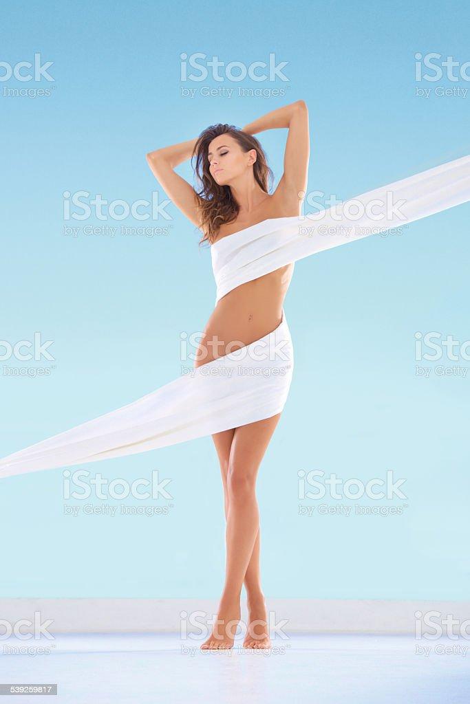 Feeling sensual stock photo