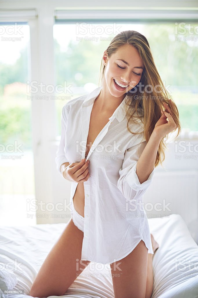 Feeling sexy today stock photo