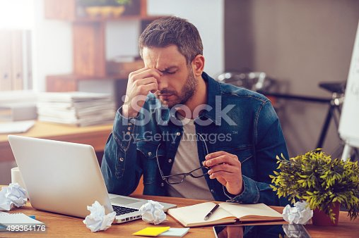 istock Feeling sick and tired. 499364176