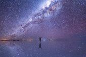 Milky Way Reflection in a Salt Flat