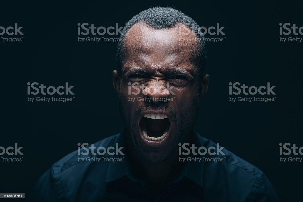 Feeling so angry! stock photo