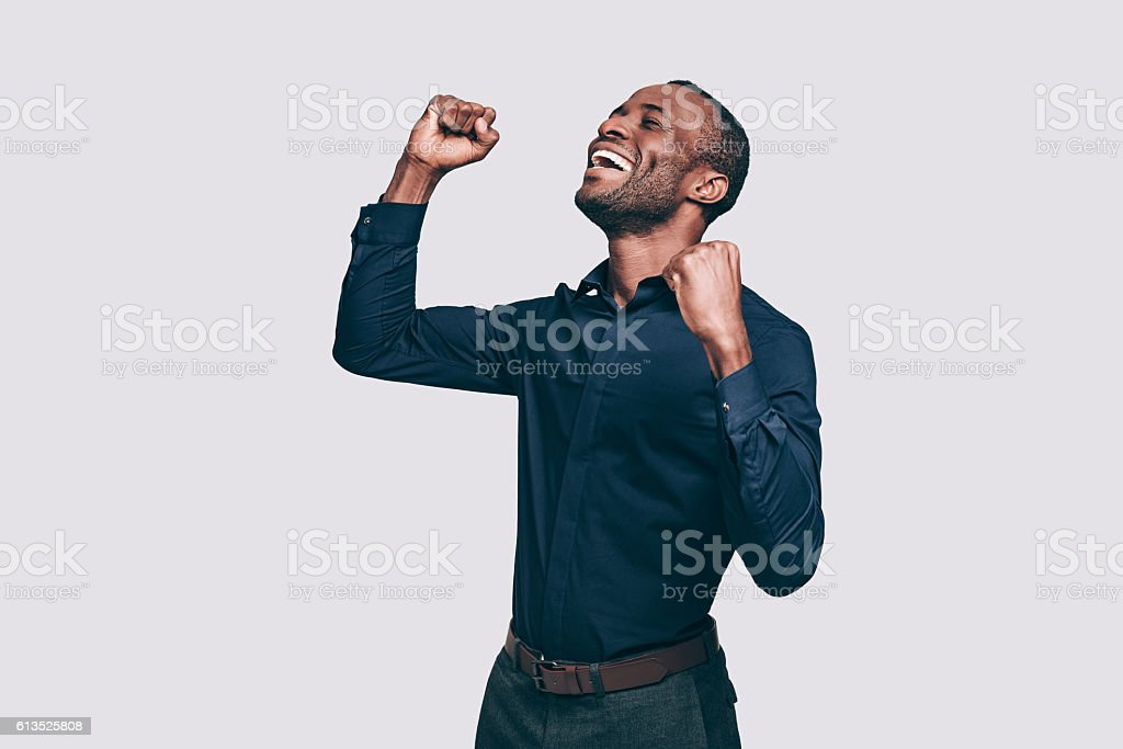 Feeling so happy! stock photo