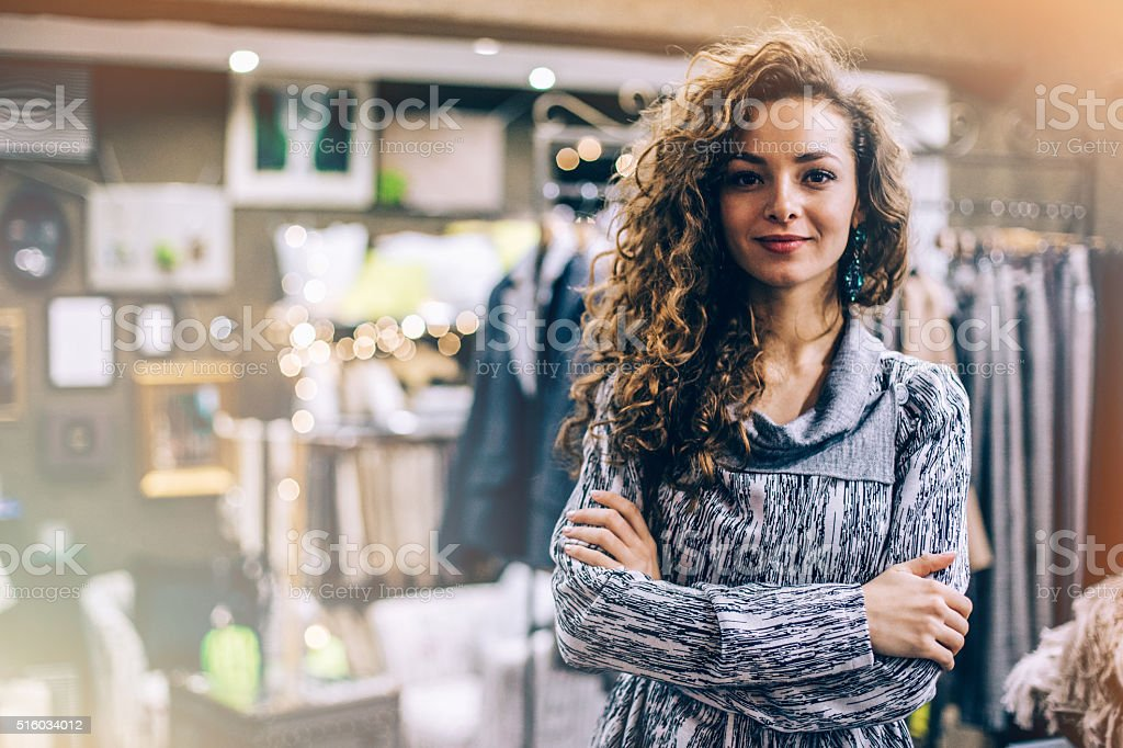 Feeling successful and satisfied stock photo