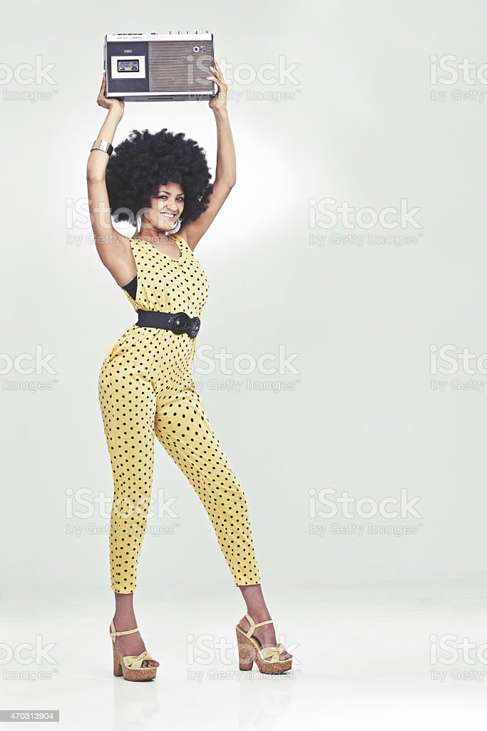 Feeling the 70s vibe! stock photo