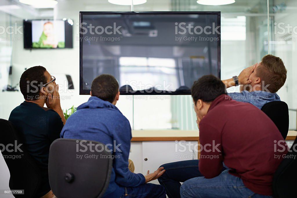 Feeling the agony of defeat as a team stock photo