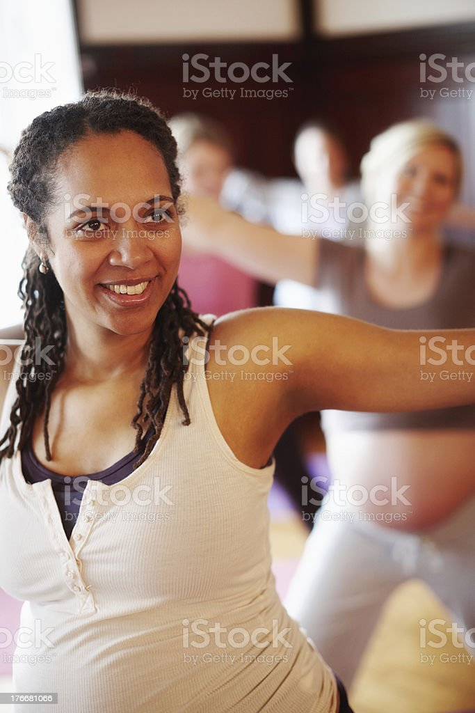 Feeling the benefits of exercise royalty-free stock photo