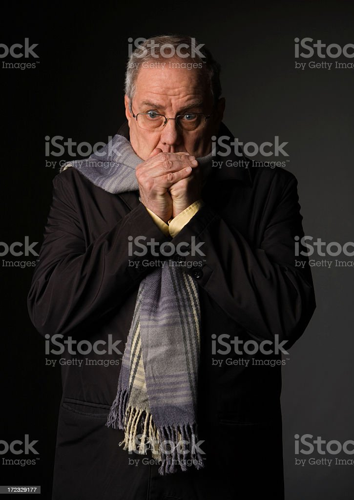 Feeling the Cold royalty-free stock photo