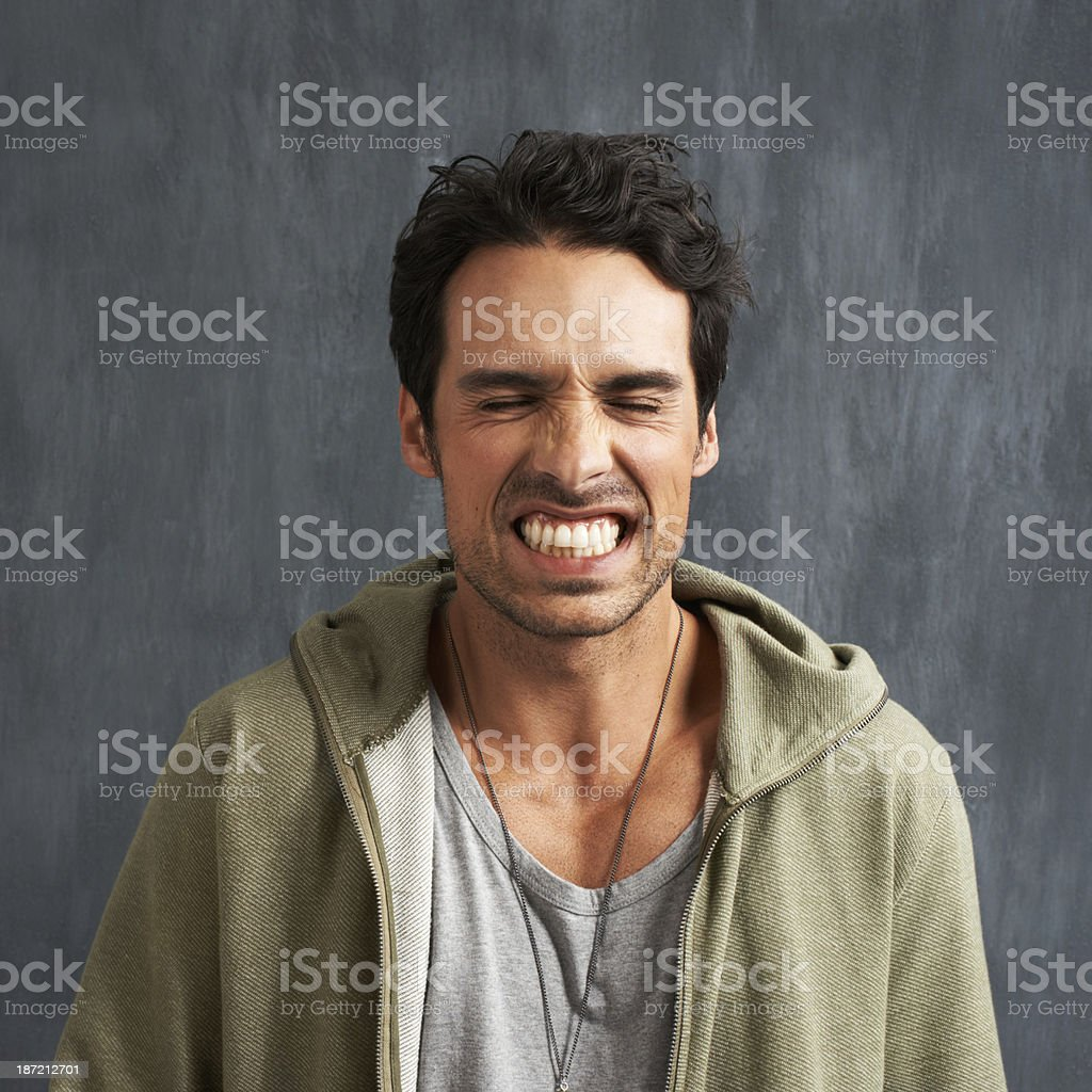 Feeling the frustration stock photo