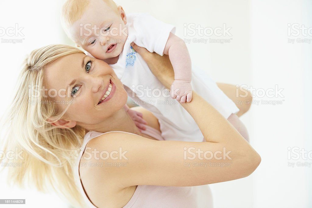Feeling the joys of being a mother royalty-free stock photo