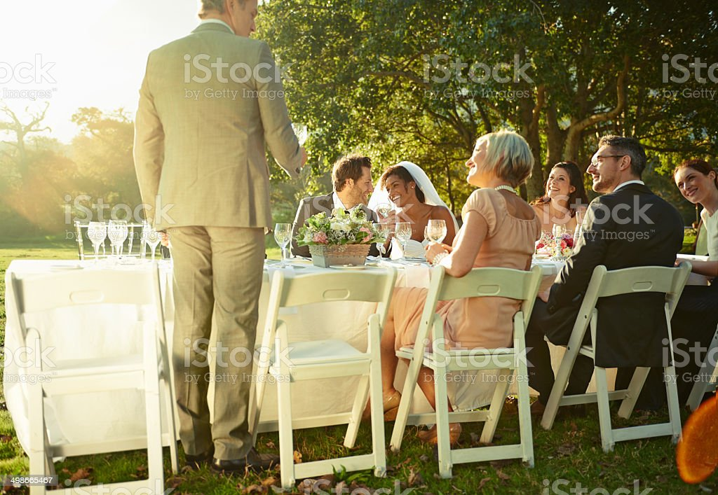Feeling the love of friends and family stock photo