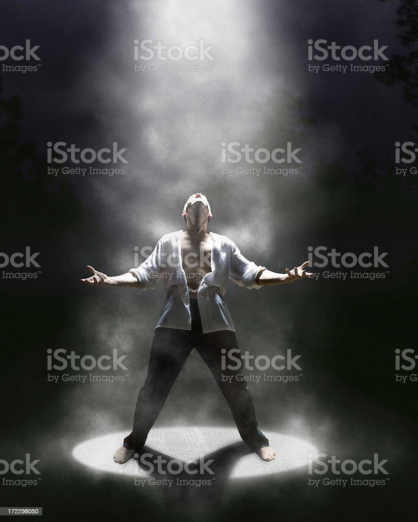 feeling the mist royalty-free stock photo