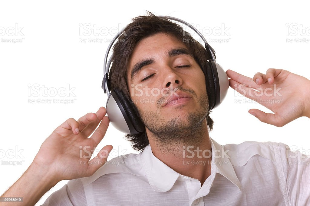 feeling the music royalty-free stock photo