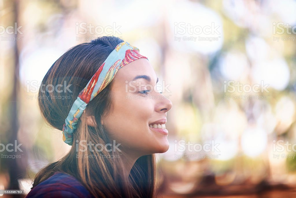 Feeling the positive vibes stock photo