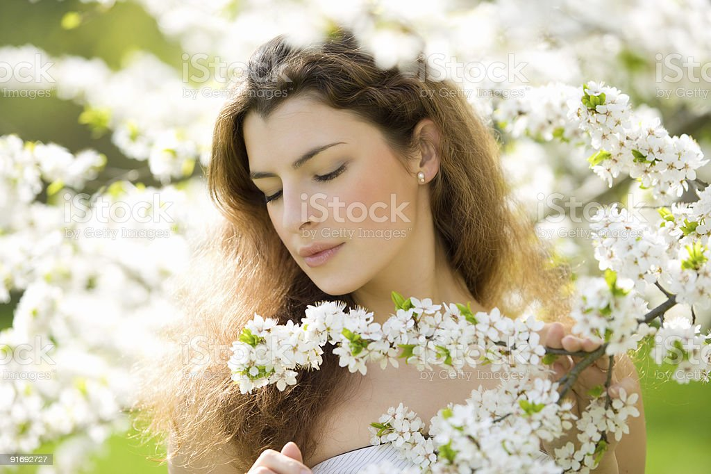 feeling the sping royalty-free stock photo