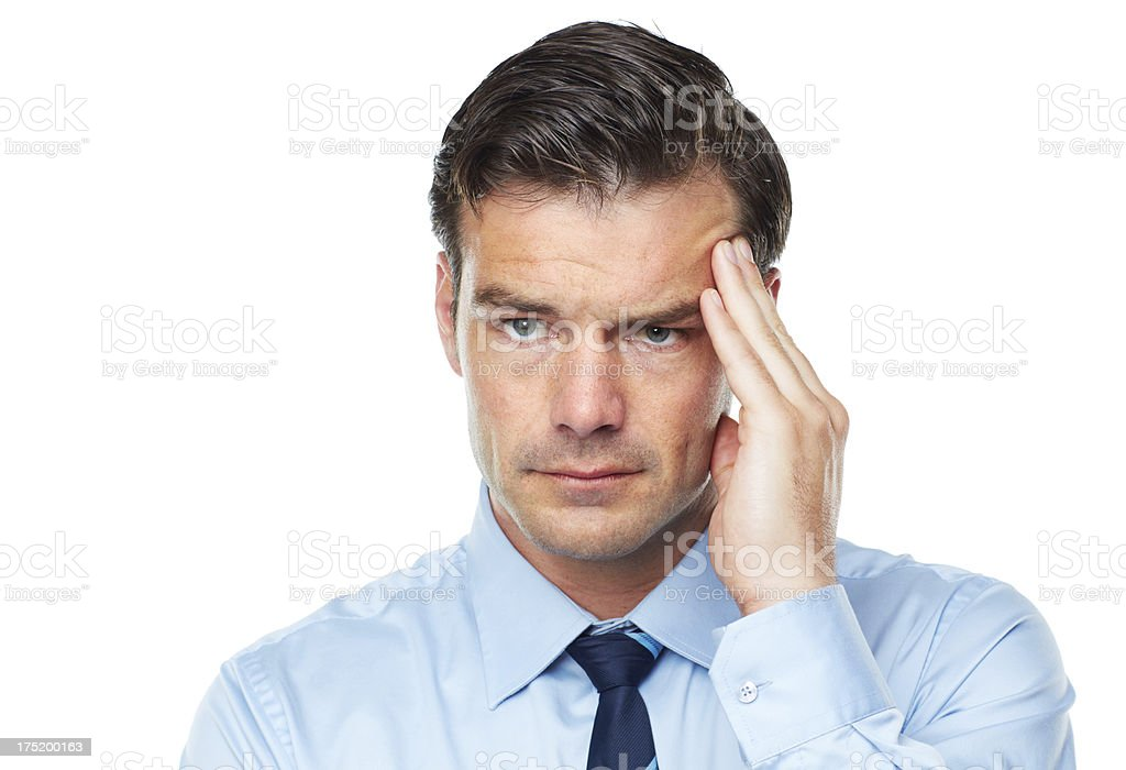 Feeling the stress of business royalty-free stock photo